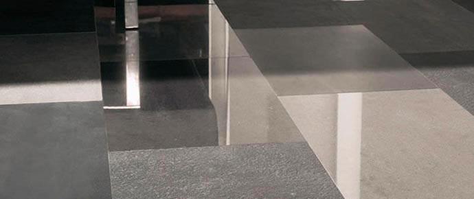 Полы с глянцевой керамической плиткой