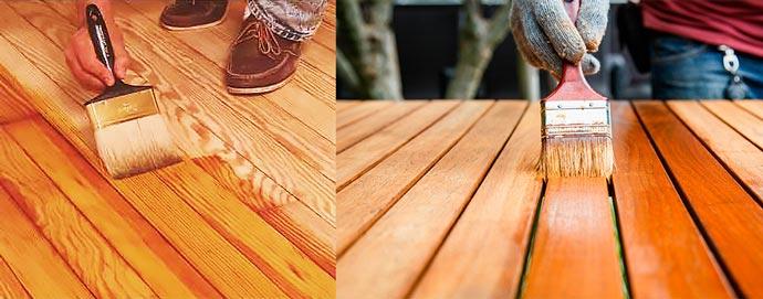 Покрытие деревянного пола лаком