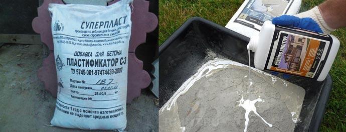 Сухой и жидкий пластификатор для раствора
