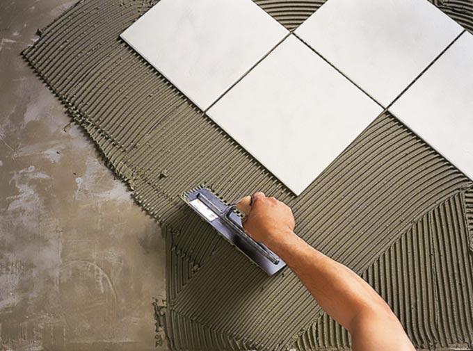 Этапы укладки керамической плитки