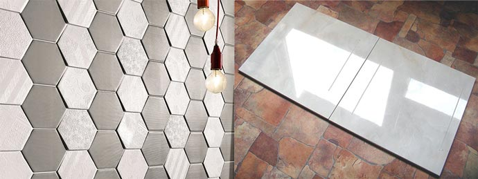Матовая и глянцевая керамическая плитка