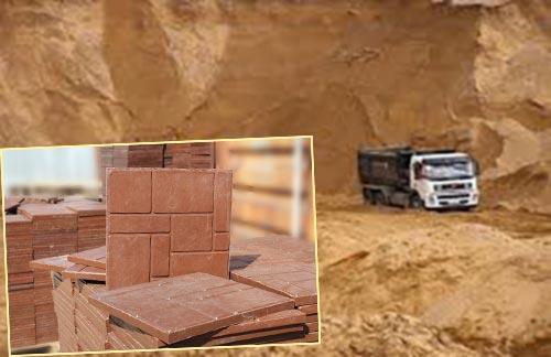 Песочный карьер и полимерпесчаная плитка