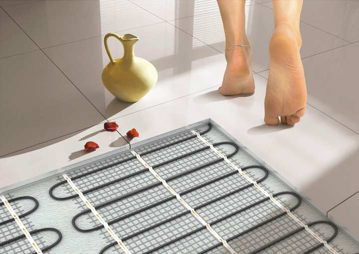 Электрические теплые полы в доме