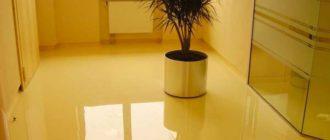Эпоксидный наливной пол в квартире