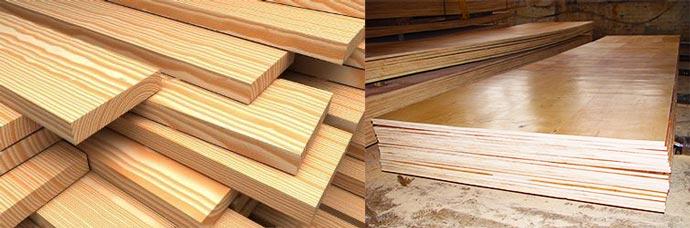 Доски и листы для деревянного пола