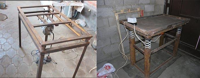 Самодельные вибростолы для плитки