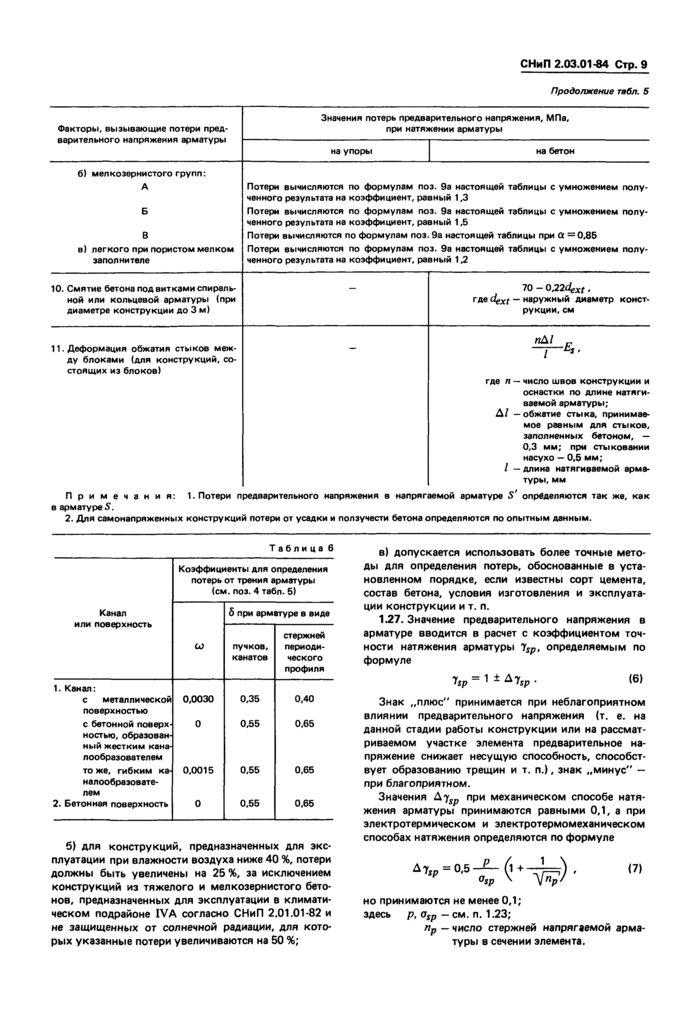 СНиП 2.03.01-84- читать