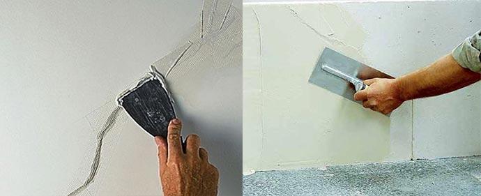 Устраненеи дефектов на бетоных стенах