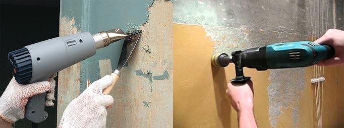 Удаление старой краски инструментами