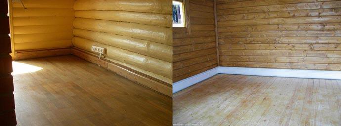 Плинтусы в деревянном доме