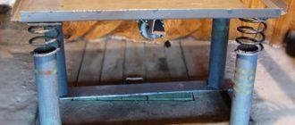 Самодельный вибростол для плитки