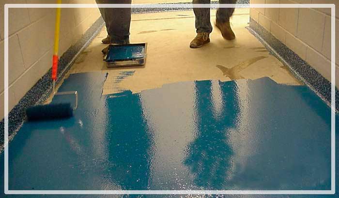 Покраска бетонного пола краской