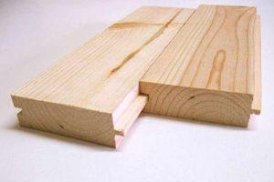 Доска типа шип-паз для деревянного пола