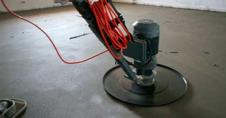 Шлифовка бетонной стяжки пола