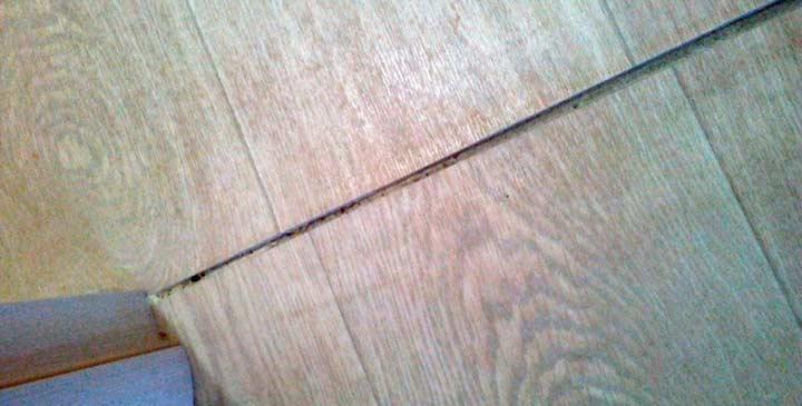 Стыковка швов линолеума