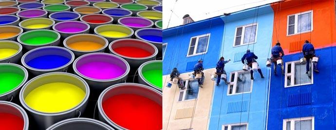Цветные краски для бетона