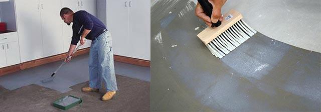 Окрашивание бетона пола и стен