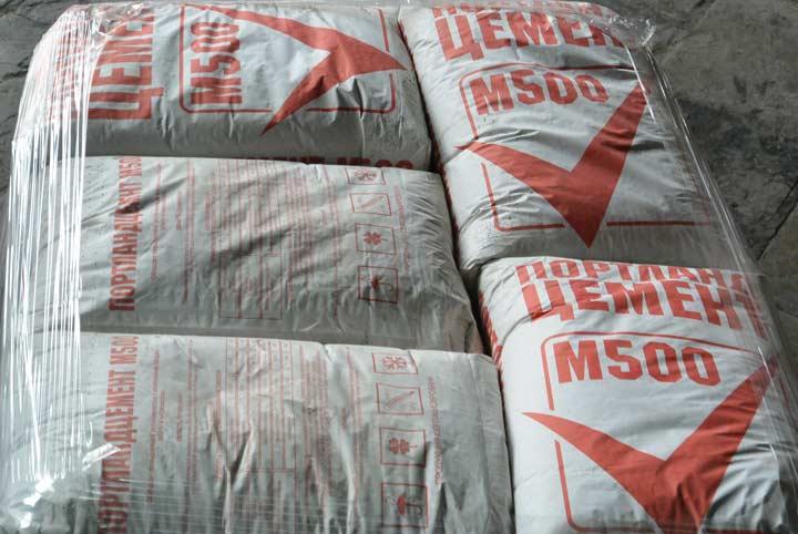 Цемент марки М500 для полусухой смеси