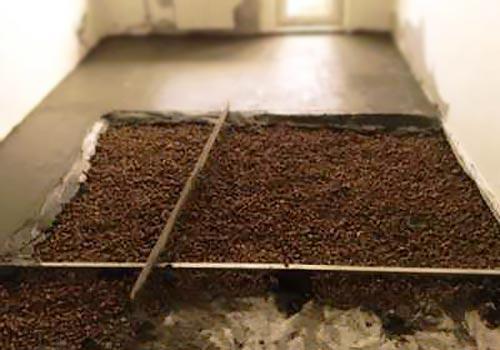 Заливка бетонного поал в гараже с утеплением