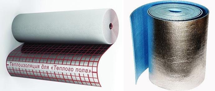 Фольгированные подложки скатанные в рулоны