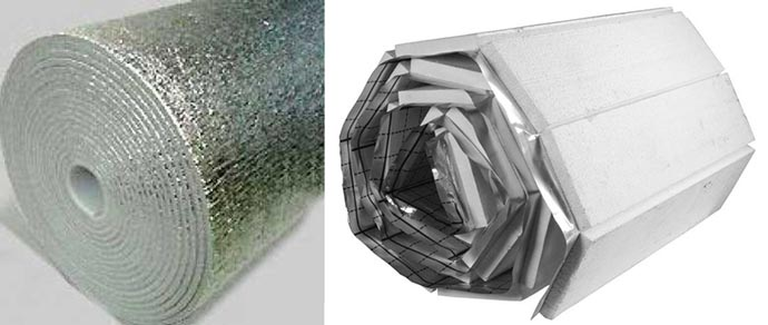 Фольгированные маты для теплого пола с полиэтиленовой плёночкой