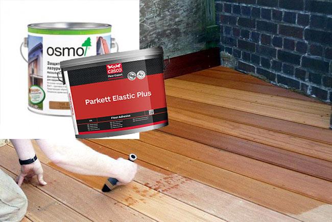 Масла Osmo и Casco для паркета и доски