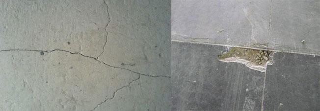 Трещины и сколы в бетоне