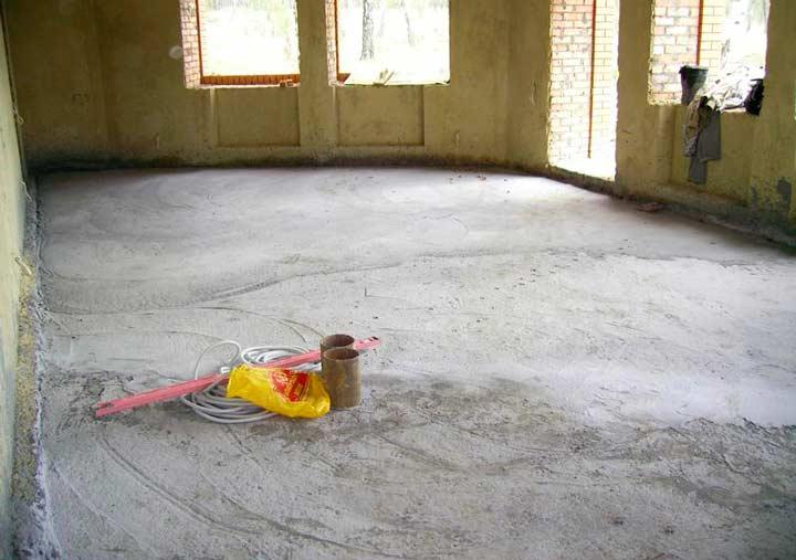 Подготовка основания для теплого электрического пола