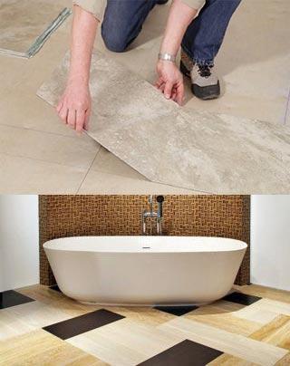 Виниловая плитка в ванной