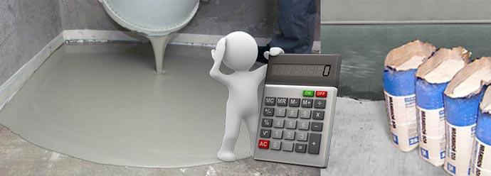 Наилвные полы ,смеси и калькулятор
