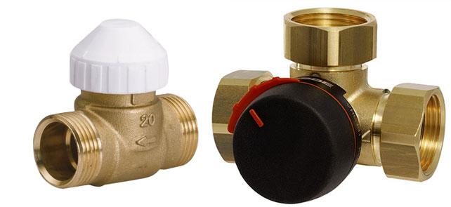 Двухходовой и трехходовой клапан