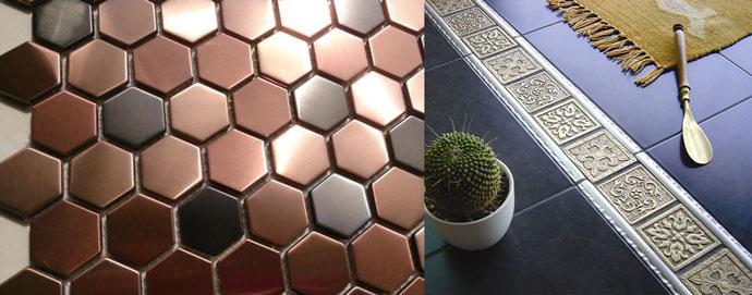 Декоры с металлической плиткой