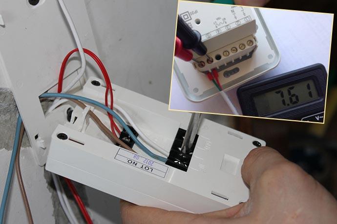 Проверка работы термостата