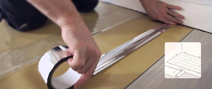Подготовка к монтажу винилового ламината на пол