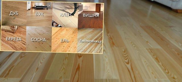 Разновидности древесины для досок