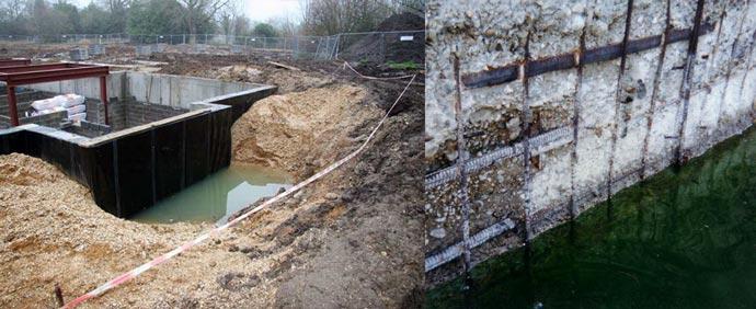 Разрушение фундамента водой