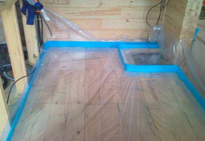 Закрепление демпферной ленты под теплый пол