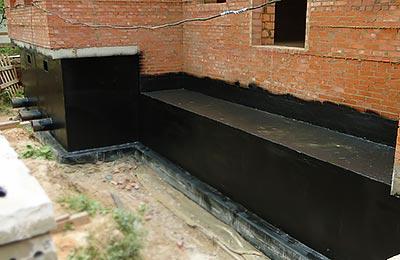 Фундамент с гидроизоляцией