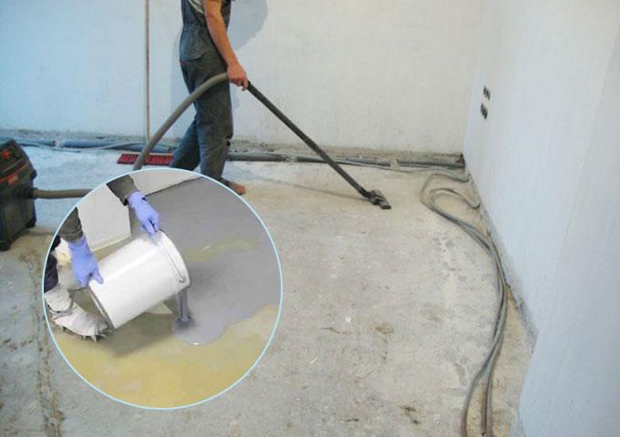 Очистка пола для наливного покрытия