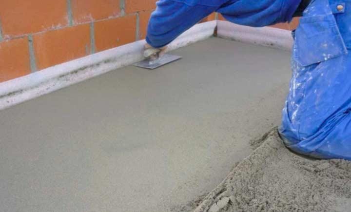Стяжка из цементно-пешчаной смеси