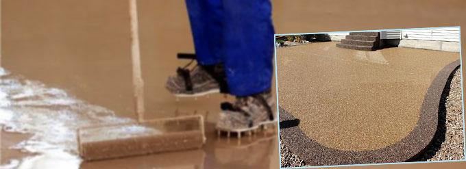 Монтаж наливного покрытия для улицы