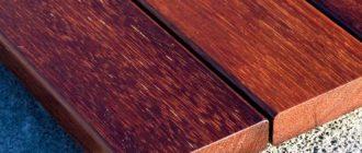 Палубная доска, изготовленная из мербау