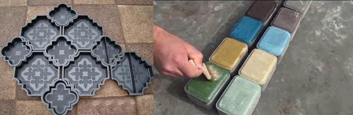 Формы для плитки, окршивание плитки