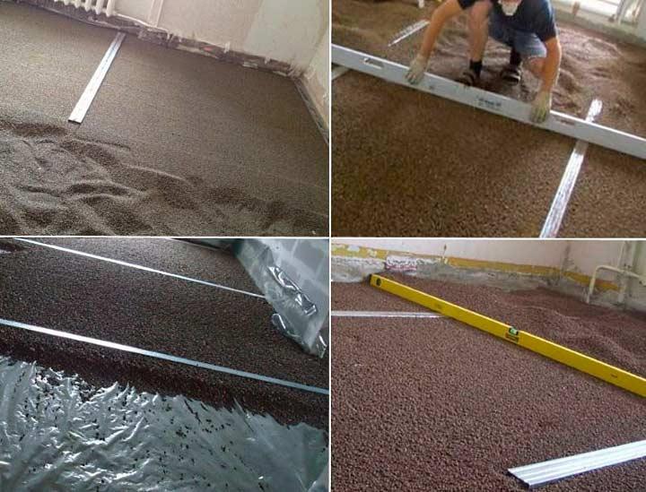 Сыпучие материалы для сухой стяжки