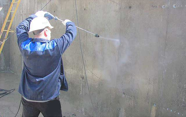 Очистка бетона