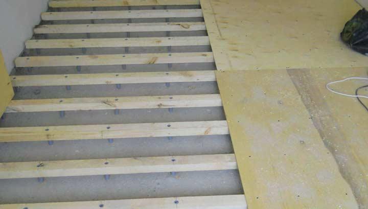 Замена деревянного основания