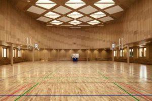 Зал со спортпаркетом