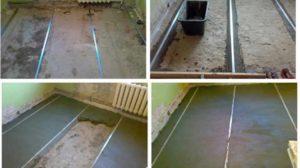 Шаги заливки бетонной стяжки
